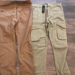 2 men's khaki pants size 32